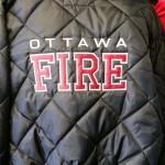 Fire on Back of jacket